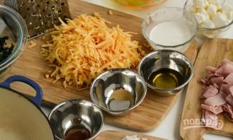 Фриттата с ветчиной, шпинатом и сыром - фото шаг 1