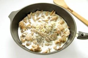 Паста с индейкой и грибами - фото шаг 7
