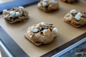 Печенье с шоколадом и зефирками - фото шаг 7