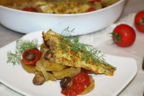 Окунь запеченный с картошкой в духовке - фото шаг 12