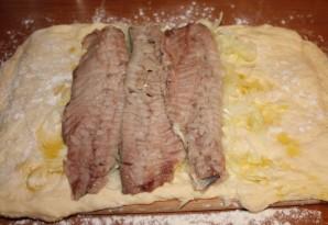 Пирог с сельдью - фото шаг 3