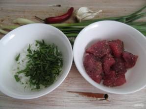 Буррито с телятиной рисом и фасолью  - фото шаг 2