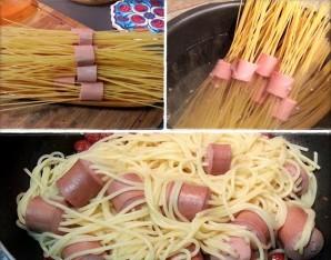 Соус для макарон с сосиской - фото шаг 2