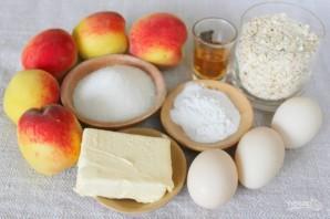 Овсяный пирог с персиками - фото шаг 1