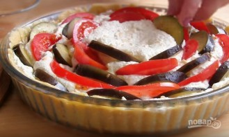 Творожный пирог с баклажанами - фото шаг 7