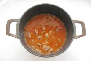 Желудки индейки в соусе - фото шаг 5
