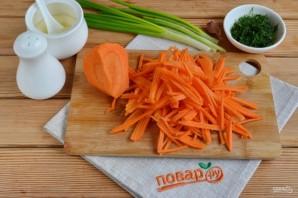 Салат с зеленой редькой и морковью - фото шаг 3