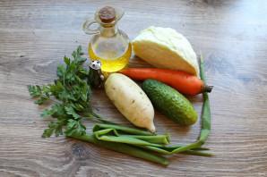 Салат с капустой и дайконом - фото шаг 1