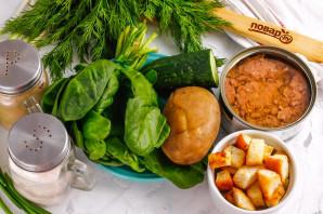 Салат с тунцом и сухариками - фото шаг 1