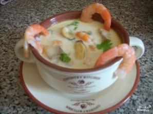 Суп из морепродуктов со сливками - фото шаг 8