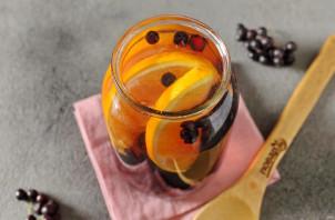 Компот из черноплодной рябины с апельсином - фото шаг 6
