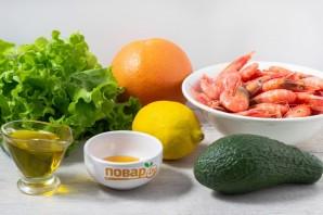 Салат из креветок с грейпфрутом и авокадо - фото шаг 1