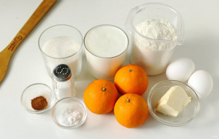 Пирог с мандаринами на кефире - фото шаг 1