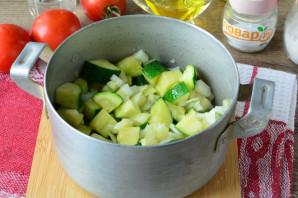 Цукини с помидорами и перцем на зиму - фото шаг 7
