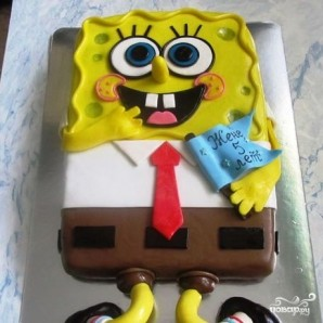 "Торт ""Губка Боб"" - фото шаг 31"