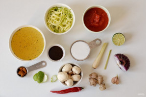 Вегетарианский Том Ям - фото шаг 1