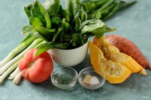 Суп из тыквы и шпината - фото шаг 1