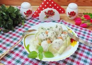 Куриные тефтели с кабачками в белом соусе - фото шаг 13