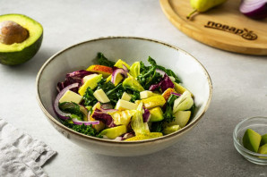 Салат из авокадо с грушей и сыром - фото шаг 7