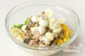 Салат из сардины в масле - фото шаг 5