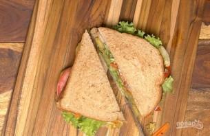 Бутерброды на шпажках - фото шаг 11