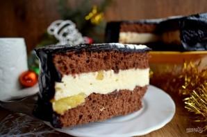 Бисквитный торт с творожным кремом - фото шаг 17