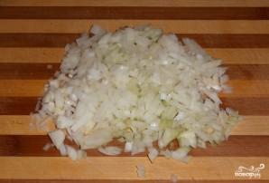 Блинный пирог с курицей, грибами и творогом - фото шаг 5