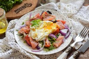 Салат с лососем и яйцом пашот - фото шаг 9