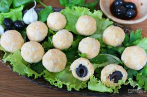 Сырные шарики с маслинами - фото шаг 6