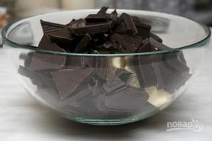 Шоколадные кексы с жидкой начинкой - фото шаг 1