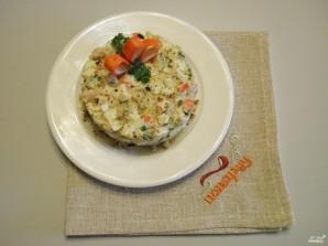 Салат из крабовых палочек и печени трески - фото шаг 8