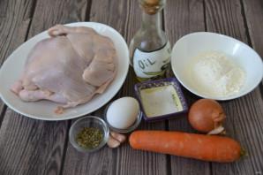Куриный суп с чесночными галушками - фото шаг 1