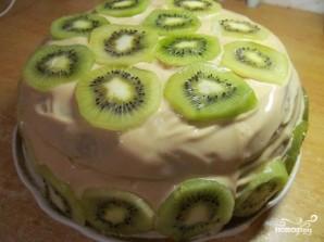 Бисквитный торт с бананом и киви - фото шаг 10
