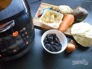 Вегетарианский борщ в мультиварке - фото шаг 1