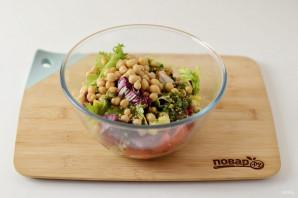 Салат с нутом - фото шаг 6