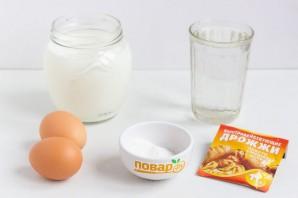 Блины ажурные на молоке - фото шаг 1