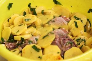 Вкусная картошка с мясом в мультиварке - фото шаг 2