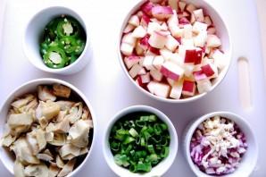 Яичница с артишоками и картофелем - фото шаг 1