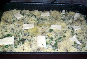 Запеканка с макаронами и грибами - фото шаг 6