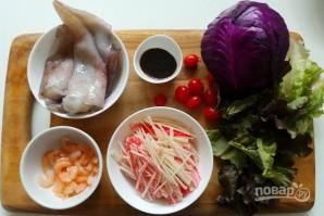 Салат из морепродуктов и овощей - фото шаг 1