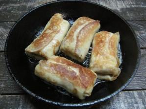 Блинчики с консервированным лососем и рисом  - фото шаг 11