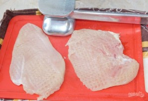 Куриный шницель с соусом - фото шаг 1