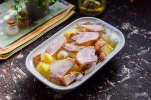 Картошка с копченой грудинкой - фото шаг 5