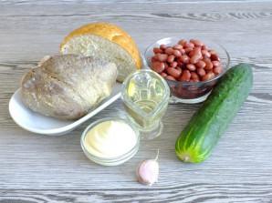 Салат с говядиной и сухариками - фото шаг 1