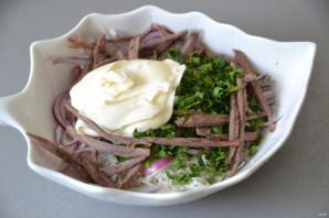 Салат с редькой и говядиной - фото шаг 5