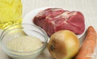 Рисовый суп с мясом - фото шаг 1