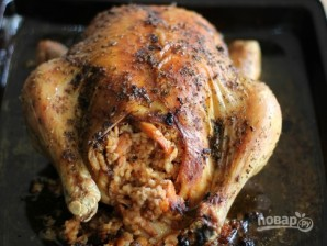 Фаршированная курица рисом - фото шаг 3