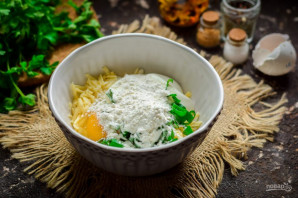 Ленивые хачапури на сковороде - фото шаг 5