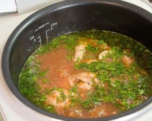 Чахохбили из курицы с вином - фото шаг 6