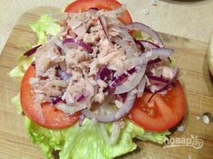 Средиземноморский сэндвич с тунцом - фото шаг 10